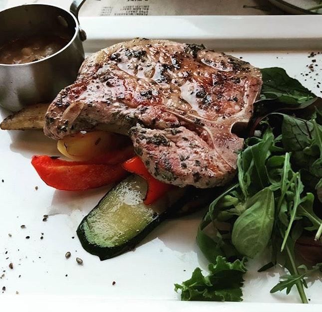 Grilled Pork Chop 👍🏻👍🏻👍🏻 $22++ .