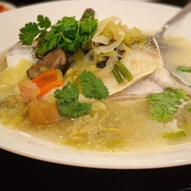 Steamed Pomfret in Teochew Style (Seasonal Price)