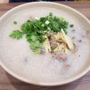 Vietnamese pork tripe porridge (Chao Long).