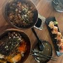 Unagi Fried Rice + Salmon Don + Aburi Salmon Yuzu Maki