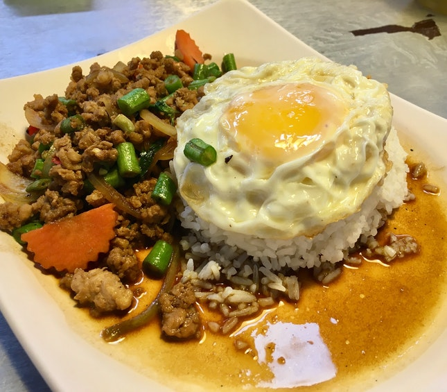 Basil Pork And Egg Rice
