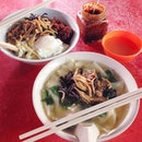 Pan mee (rice flour noodle) @ Third Mile (Batu 3), Jalan Ipoh  Located at the road side stalls along Jalan Ipoh Police Station, this Pan Mee stall opens from early lunch till late evening.