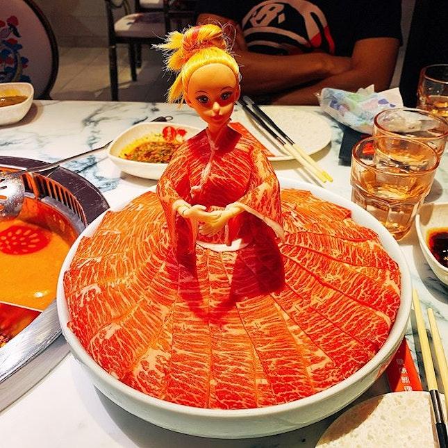 Hello Barbie, I like your wagyu dress!