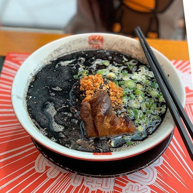 Tasty BLACK KING ramen from Ramen Nagi