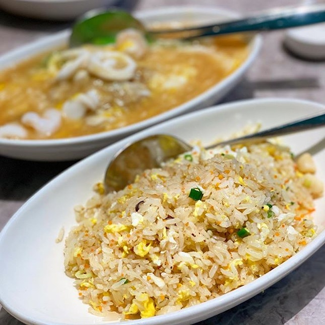 """Who can resist excellently done fried rice, seafood horfun (especially with the """"wok hey"""" taste) and hot palpate beancurd??"""