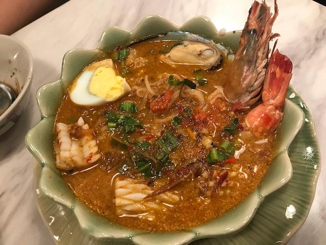 Tom yum Seafood Noodles ($10.50)