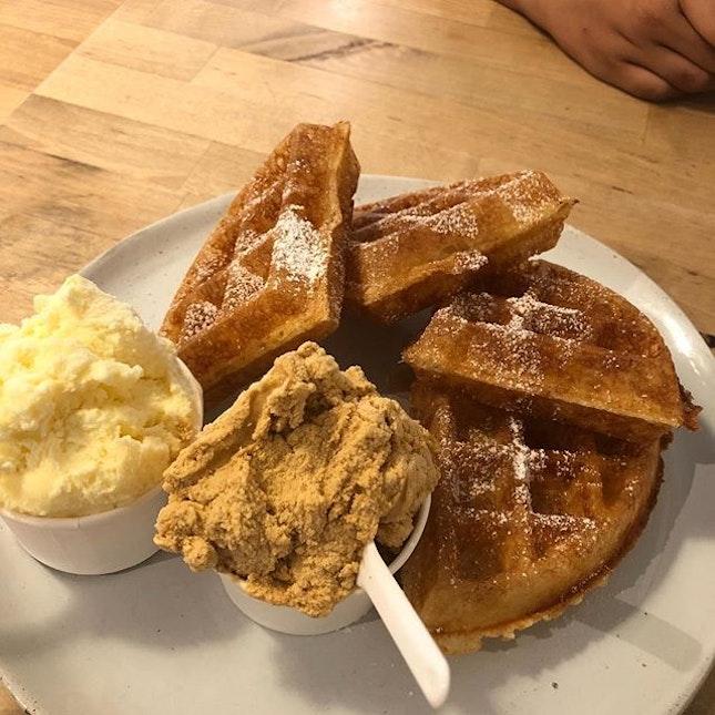 Waffles and ice cream!