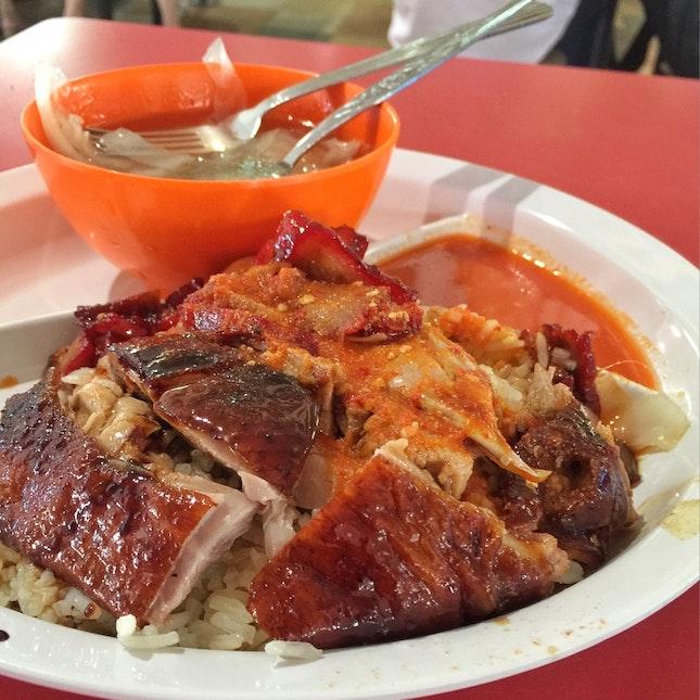 Roast Duck, Char Siew Rice $4.50