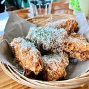 Crispy Garlic Parmesan Wings!!!! ($10)