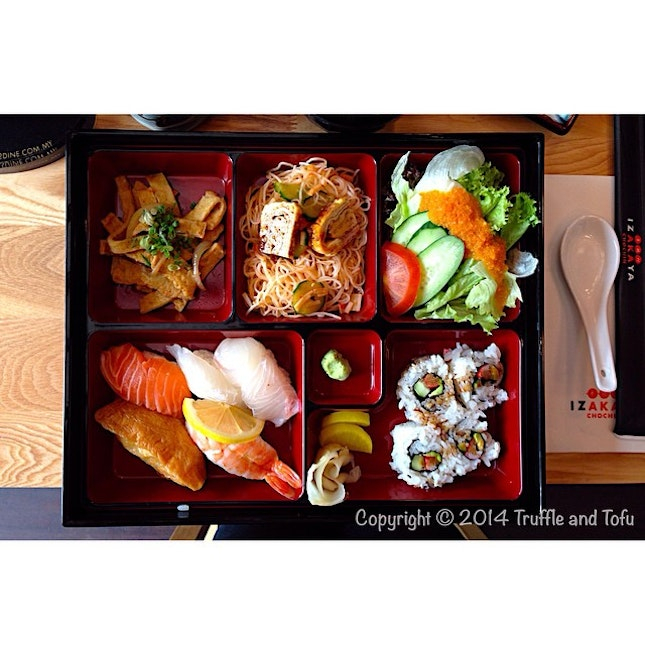 Sushi bento set for lunch at this new Japanese place in pavilion