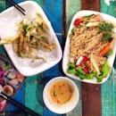 Thai Popeye's Tempura and Thai Rice Noodles