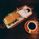 Egg Sandwich & Long Black @ JITH