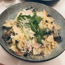 Truffle Bacon Mushroom Farfalle ($16)