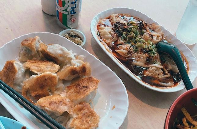 Gyoza ($6) + Chilli Oil Vinegar Dumplings ($5.50)