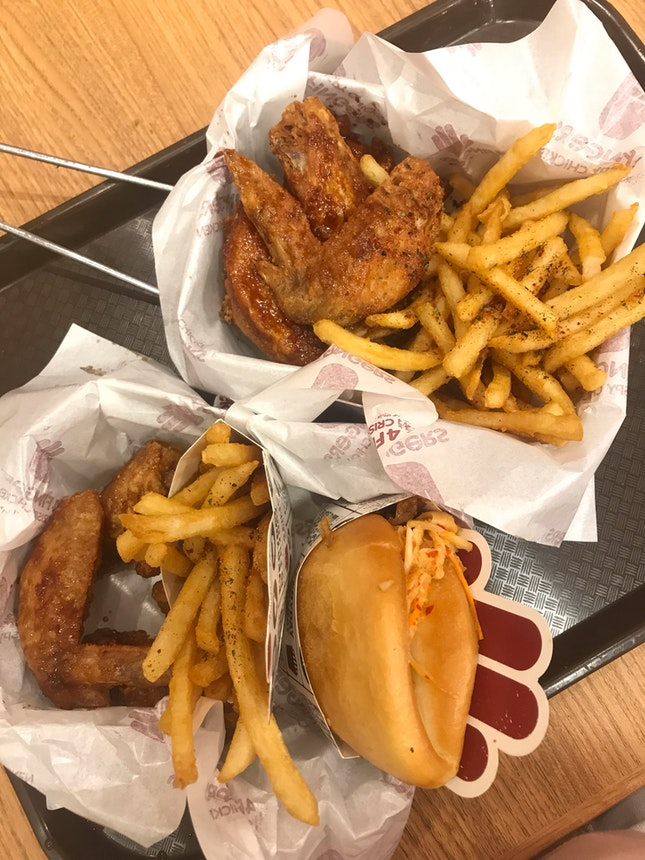 6 Piece Chicken & Savers Meal ($10.95, $8.95)