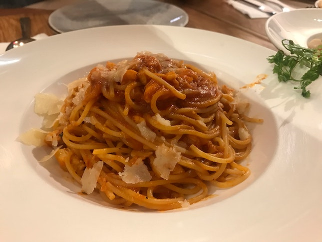 Pasta With Crab Meat ($23)