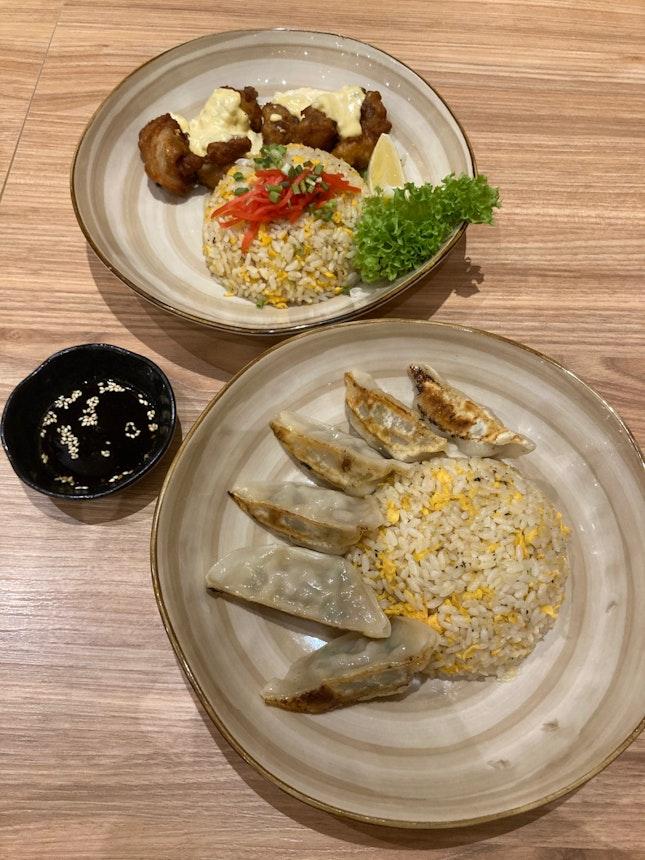 Fried Rice With Gyoza / Chicken Nanban ($9.80 / $10.80)