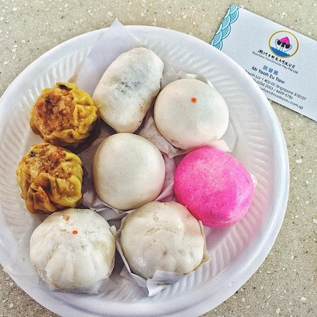 迷你包, Mini Bao  Every morning they hand made all the bao from the scrap.