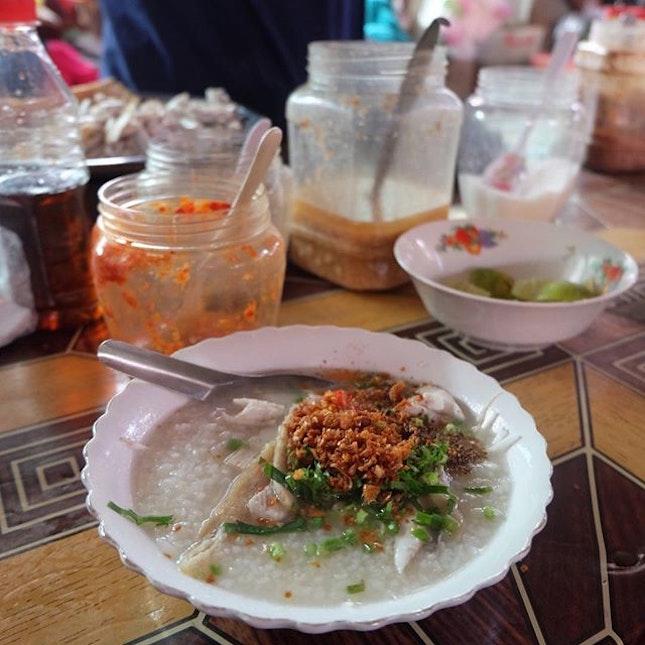 Fish Congee (USD 0.70) .