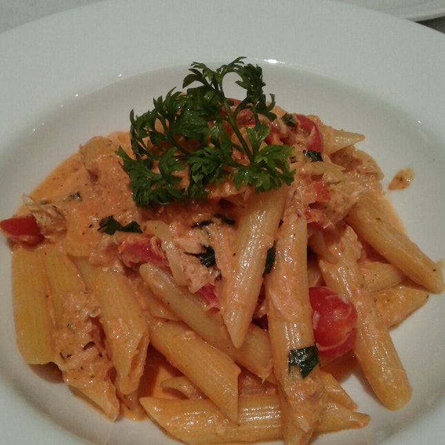 Penne Vodka With Crabmeat