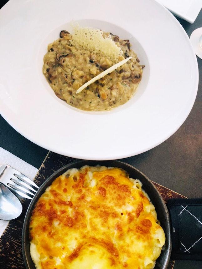 Mac 'n' Cheese & Mushroom Risotto