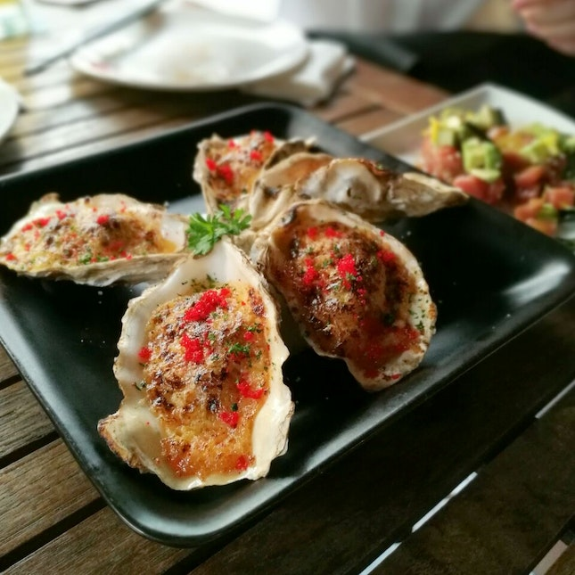 Creamy Baked Oysters At Kouzu Ttdi Burpple Mr bean competes with another man at his hotel to eat the most food at the buffet. burpple