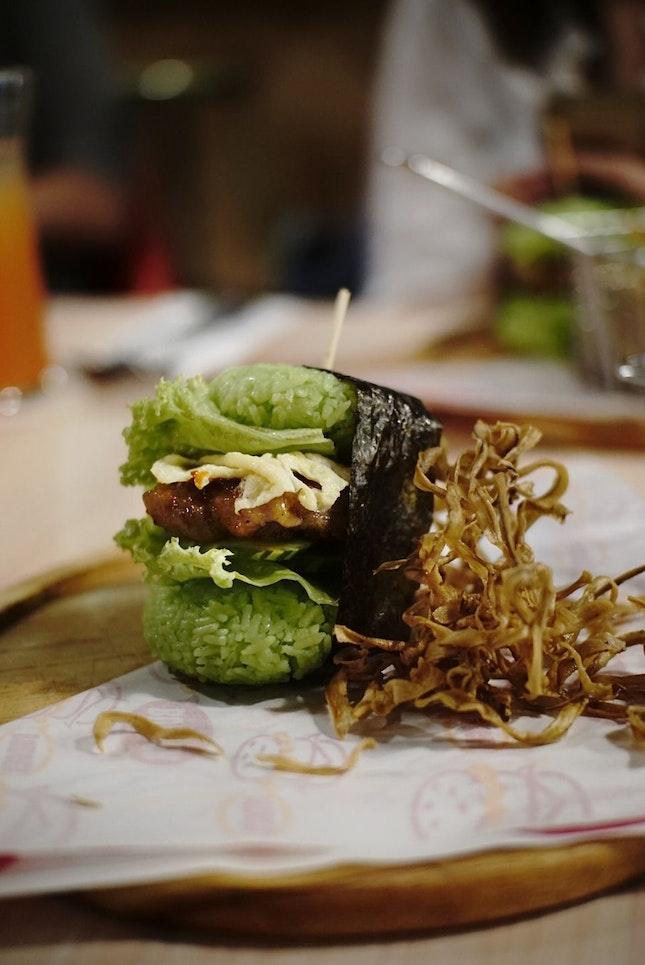 Nasi Lemak Sushi Burger