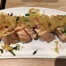Roasted Salmon W/ Tenkasu Roll