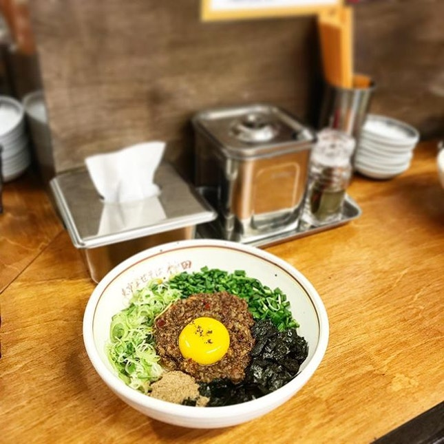 """Mazesoba (9,500won) - Chanced upon a """"ramen-looking"""" store along Gyeongbokgong station where there's always a stretch of queue over the weekends."""