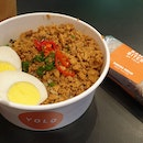 Basil Minced Chicken with Brown Rice & Egg ($8)