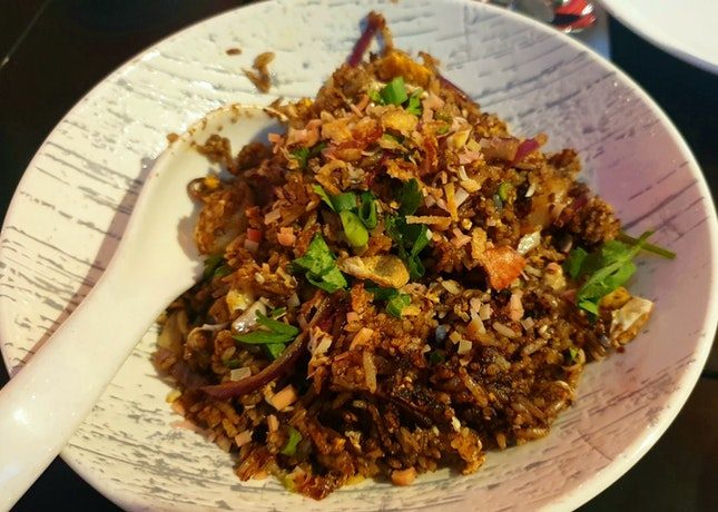 Sambal Buak Keluak Fried Rice ($21.90)