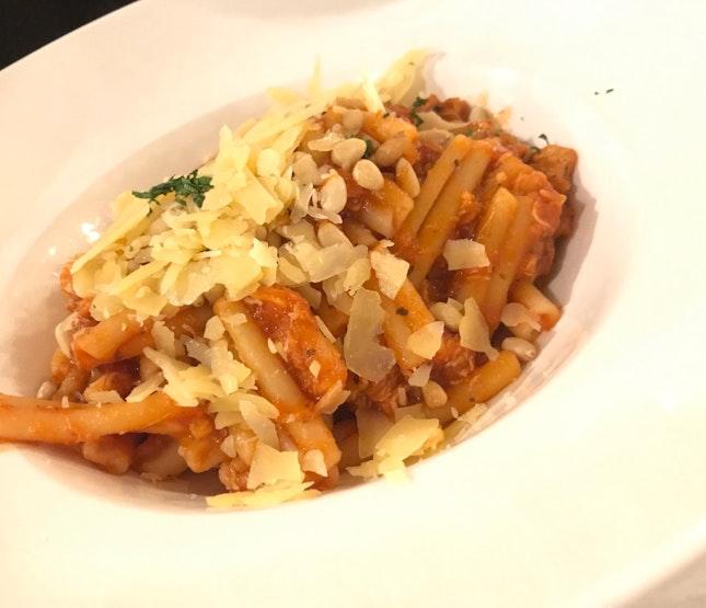Spicy Crab Meat Pasta