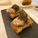 Scampi Bruschetta with Caviar