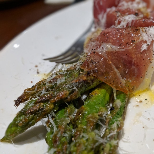 Grilled Asparagus With Parma Ham