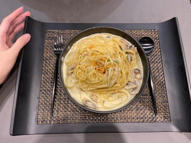 Wild Mushroom Truffle Miso Linguini $14.90