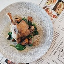 Duck confit served with my favourite vege, spinach.