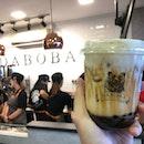 🐰 Roasted Brown Sugar Pearl Fresh Milk (S$5.60) @ DABOBA 熊黑堂.