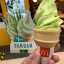 Pandan Ice Cream Cone (S$1).