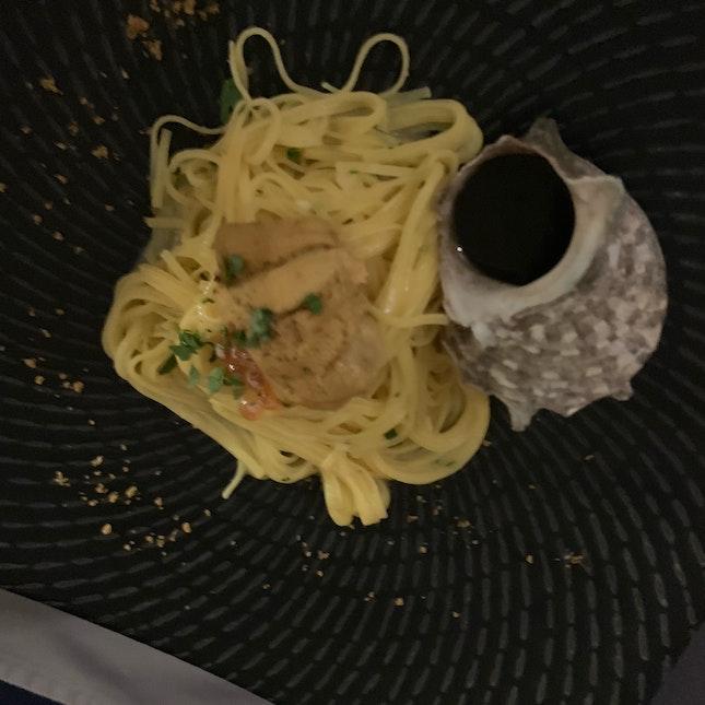 Uni Ikura Squid Ink Pasta