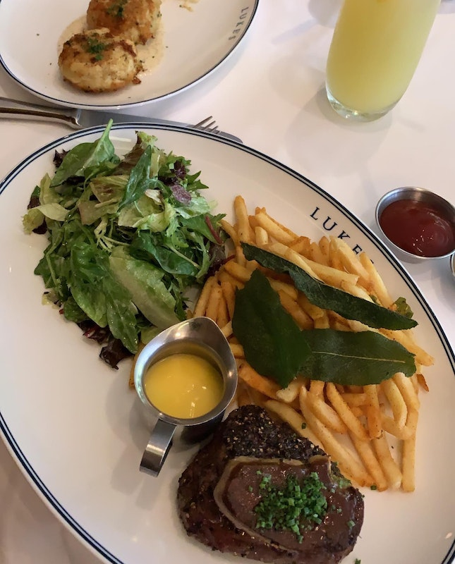 Steak And Fries With Foie Gras