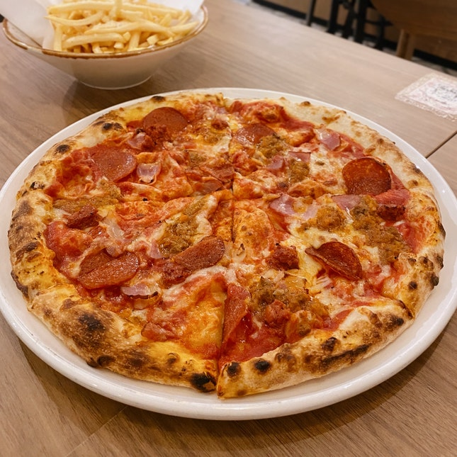 Mixed Meat Pizza ($24++)