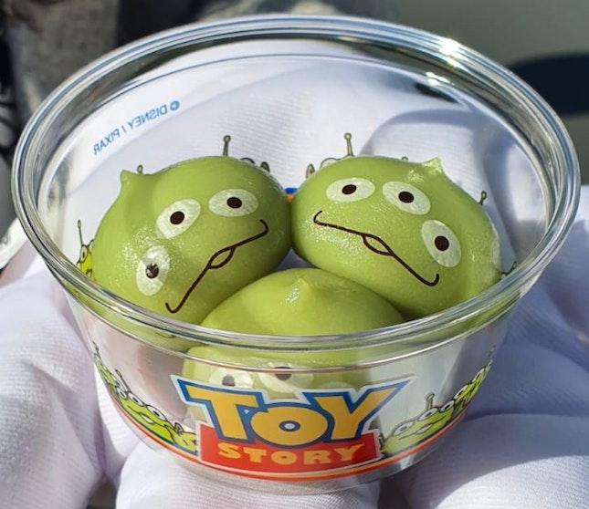 Little Green Men Dumplings (360 Yen)