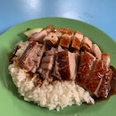 Roasted Duck And Crispy Pork Rice