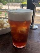 Cold Tea Macchiato ($7.50)