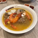 Giant Grouper Seafood Soup ($14)