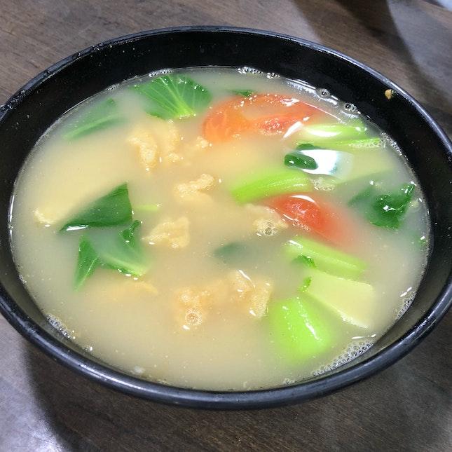 Fried Fish Soup (No Milk, $5.80)