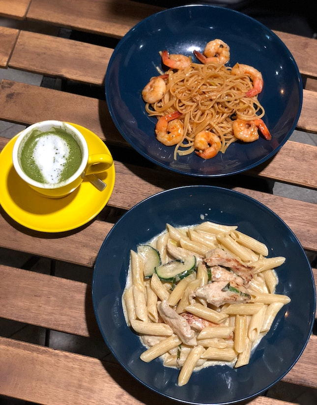 [Pasta] Green Eyed Monster & Spice It Up ($13.90)