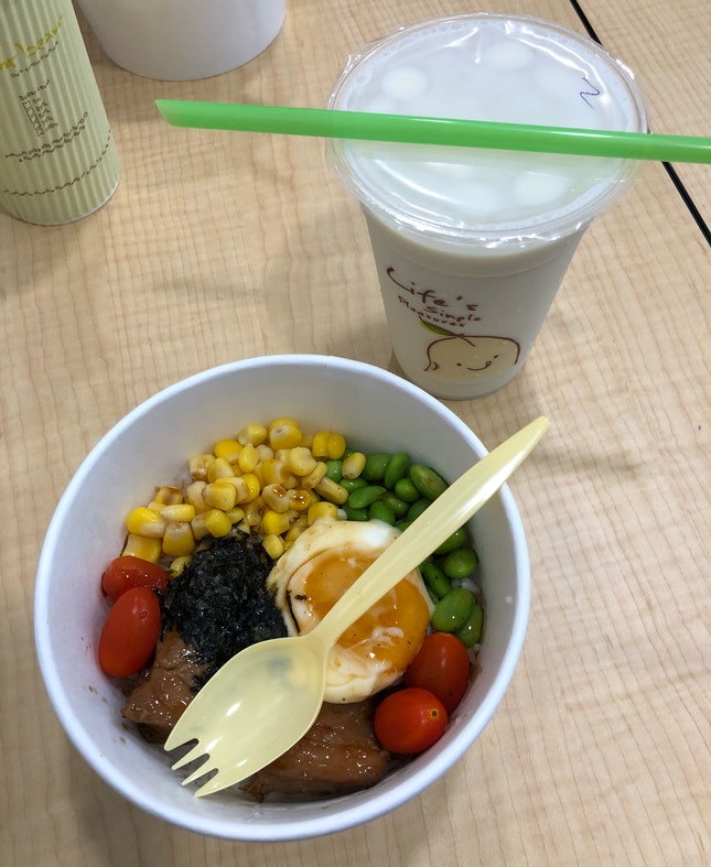 Rice Bowl + Soy Bean Set ($5.50)