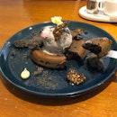 Houjicha Molten Pancake ($17)
