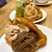 [Ice Cream, Pastry & Drink] Pistachio + Green Tea Toasted Rice & Choco Hojicha + Pecan On Butter Croissants, With Osminthus And Kabuse Genmaicha Tea Pots ($19.50)